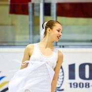 Lara Roth during the free skating at the Coupe du Printempts 2016.