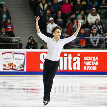 Vladislav Katichev during his free skating at the Russian National Championships 2020.  Владислав Катичев в произвольной программе на Чемпионате России 2020.