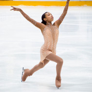 Starr Andrews during the short program at the Challenge Cup 2019.