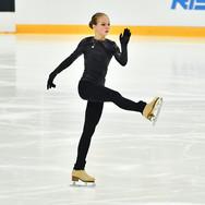 Alexandra Trusova performing her free skate at the Russian Test Skates 2020.  Александра Трусова в произвольной программе на открытых прокатах 2020.