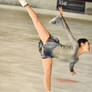 Satoko Miyahara during the free skating practice at the 2020 Bavarian Open.