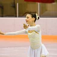 Novice skater during the free skating at the Coupe du Printempts 2016.