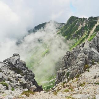Senjojiki Cirque, Central Alps.