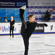 Alena Kostornaia during the free skating practice at Russian National Championships 2020.  Алёна Косторная на тренировке произвольной программы на Чемпионате России 2020.