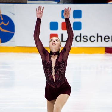 Niki Wories during the short program at the Challenge Cup 2019.