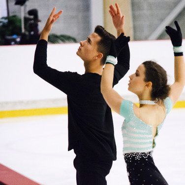 Marie Dupayage  / Thomas Nabais performing their free dance at the ISU Junior Grand Prix Riga Cup 2019.