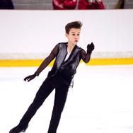 Daniil Samsonov performing his free program at the ISU Junior Grand Prix Riga 2019.