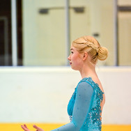 Nelma Hede during the free skating at the Coupe du Printempts 2016.