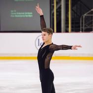 Andrew Torgashev performing his short program at the ISU Junior Grand Prix Riga Cup 2019.