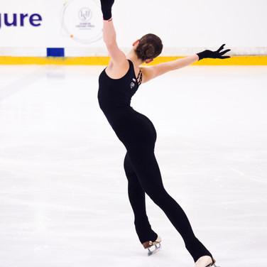 Anastasia Arkhipova during the practice at the ISU Junior Grand Prix Riga Cup 2019.