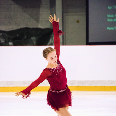 Emelie Nordqvist performing her free program at the ISU Junior Grand Prix Riga 2019.