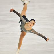 Satoko Miyahara performing her free skating at the 2020 Bavarian Open.