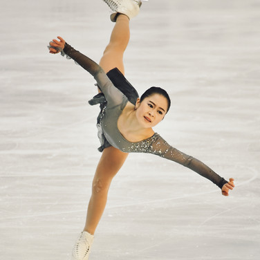 Satoko Miyahara performing her free skating at the 2020 Bavarian Open.