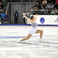 Anastasiia Gubanova during the free skating at the Russian National Championships 2020.   Анастасия Губанова во время произвольной программы на Чемпионате России 2020.