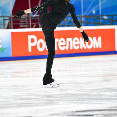 Anna Frolova during the free skating practice at Russian National Championships 2020.  Анна Фролова на тренировке произвольной программы на Чемпионате России 2020.