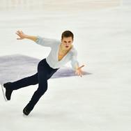 """Mikhail Kolyada performing his free skating at the Rostelecom Cup 2020.   Михаил Коляда в произвольной программе на ИСУ Гран-при """"Кубок Ростелеком"""" 2020."""