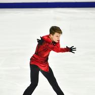 "Evgenii Semenenko performing his free skating at the Rostelecom Cup 2020.   Евгений Семененко в произвольной программе на ИСУ Гран-при ""Кубок Ростелеком"" 2020."