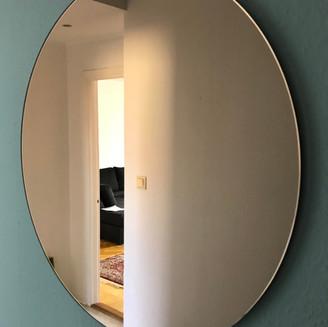 Rund spegel koppar