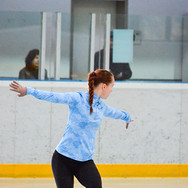 Lyubov Efimenko during the practice at the Coupe du Printempts 2016.