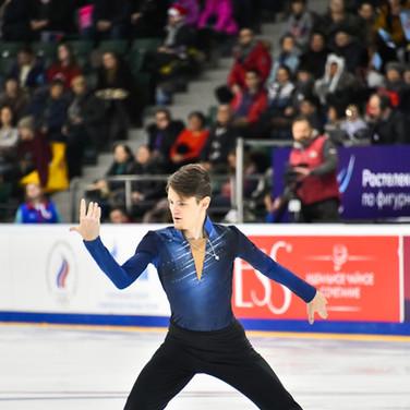 Andrei Zuber during his free skating at the Russian National Championships 2020.  Андрей Зубер в произвольной программе на Чемпионате России 2020.