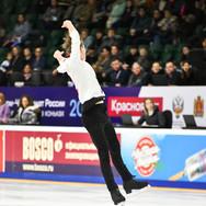 Egor Murashov during the short program at the Russian National Championships 2020.  Егор Мурашов в короткой программе на Чемпионате России 2020.