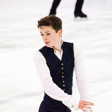 Liam Kapeikis during the free  skating practice at the ISU Junior Grand Prix Riga Cup 2019.