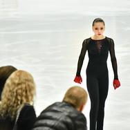Kamila Valieva performing her free skate at the Russian Test Skates 2020.  Камила Валиева в произвольной программе на открытых прокатах 2020.