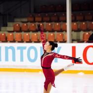 Jocelyn Hong during her Short Program at the ISU Junior Grand Prix Riga Cup 2019.