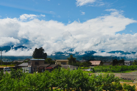A view from a train, Yamanashi Prefecture