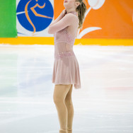 Amber Glenn during the short program at the Challenge Cup 2019.