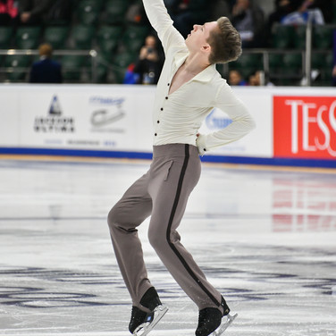 Andrei Mozalev during the short program at the Russian National Championships 2020.  Андрей Мозалёв в короткой программе на Чемпионате России 2020.