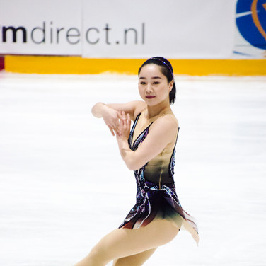 Wakaba Higuchi during the short program at the Challenge Cup 2019.