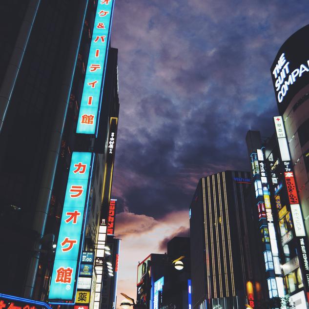 Night street in Shinjuku.