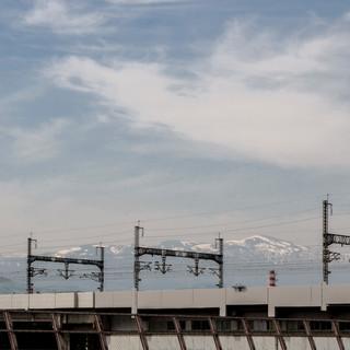 View on mount Adatara from Fukushima city.