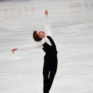 Deniss Vasiljevs performing his short program at the ISU World Championships 2018.