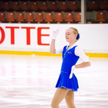 Catharina Victoria Petersen during her Short Program at the ISU Junior Grand Prix Riga Cup 2019.