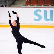 Gabrielle Izzo during the practice at the ISU Junior Grand Prix Riga Cup 2019.