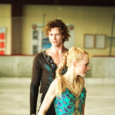 Haley Sales / Nikolas Wamsteeker during the free dance practice at the 2020 Bavarian Open.