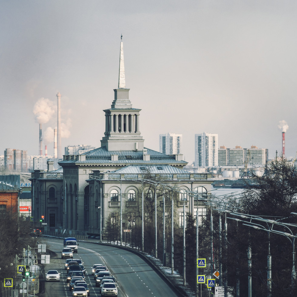 Krasnoyarsk city centre.   Центр города.