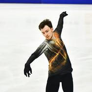 "Dmitri Aliev performing his free skating at the Rostelecom Cup 2020.   Дмитрий Алиев в произвольной программе на ИСУ Гран-при ""Кубок Ростелеком"" 2020."