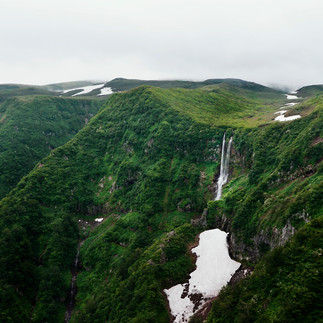 The view on waterfalls.