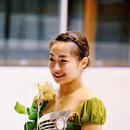 Rin Nitaya during the medal ceremony at the Coupe du Printempts 2016.