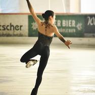 Satoko Miyahara during the short program practice at the 2020 Bavarian Open.
