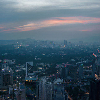 Night view on Kuala Lumpur from KL Tower.