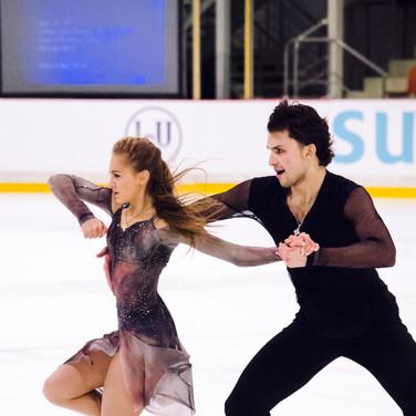Maria Kazakova / Georgy Reviya performing their free dance at the ISU Junior Grand Prix Riga Cup 2019.