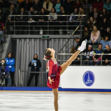 Valeria Shulskaya during the free skating at the Russian National Championships 2020.   Валерия Шульская во время произвольной программы на Чемпионате России 2020.