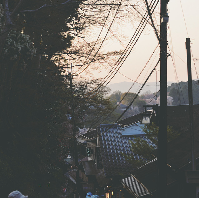 Sunset in Yoshino.