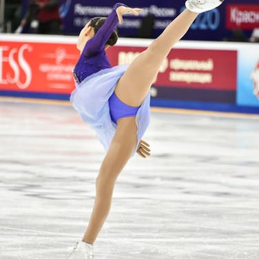 Anna Frolova during the free skating at the Russian National Championships 2020.   Анна Фролова во время произвольной программы на Чемпионате России 2020.