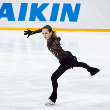 Yoonmi Lehmann during the short program at the Challenge Cup 2019.