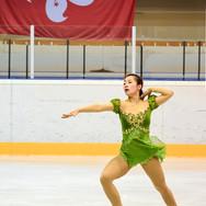 Rin Nitaya during the free skating at the Coupe du Printempts 2016.